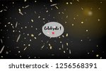 modern tinsel confetti isolated ... | Shutterstock .eps vector #1256568391