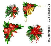 christmas festive decoration...   Shutterstock .eps vector #1256568601