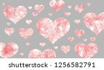 abstract red valentine heart... | Shutterstock . vector #1256582791