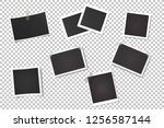 photo frames on a transparent... | Shutterstock .eps vector #1256587144