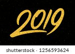 happy new year 2019 greeting...   Shutterstock . vector #1256593624