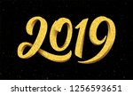 happy new year 2019 greeting...   Shutterstock . vector #1256593651