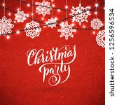 merry christmas party poster... | Shutterstock . vector #1256596534