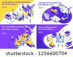 set isometric concept e... | Shutterstock .eps vector #1256600704