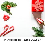 christmas composition with... | Shutterstock . vector #1256601517