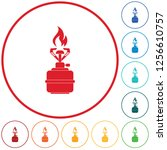 camping stove icon vector.... | Shutterstock .eps vector #1256610757