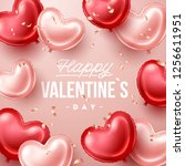 valentines day background with... | Shutterstock .eps vector #1256611951