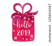 happy new year wish poster ... | Shutterstock .eps vector #1256616367