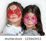 Two Girls With Face Painting O...
