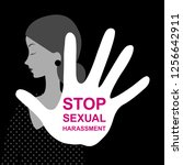 harassment. stop sexual... | Shutterstock .eps vector #1256642911