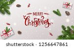 merry christmas typographical... | Shutterstock .eps vector #1256647861