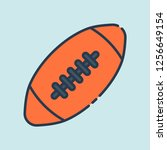 american football ball in flat... | Shutterstock .eps vector #1256649154