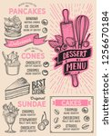 dessert menu template for... | Shutterstock .eps vector #1256670184