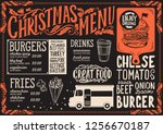 christmas menu template for...   Shutterstock .eps vector #1256670187