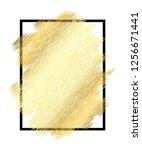 gold metall texture  black... | Shutterstock .eps vector #1256671441