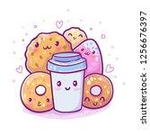 cute vector illustration.... | Shutterstock .eps vector #1256676397