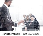 working business people behind... | Shutterstock . vector #1256677321