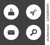 set of 4 instruments icons set. ... | Shutterstock . vector #1256683444