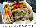 a box full of sandwiches | Shutterstock . vector #1256692624