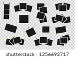 set of square vector frames on... | Shutterstock .eps vector #1256692717