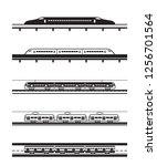 different types of passenger... | Shutterstock .eps vector #1256701564