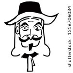 Caricature Of Guy Fawkes Face ...