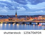 scenic aerial view of gamla... | Shutterstock . vector #1256706934