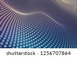 abstract polygonal space low... | Shutterstock . vector #1256707864