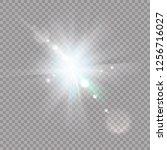 white glowing light burst... | Shutterstock .eps vector #1256716027
