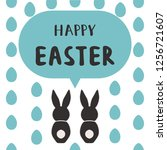 happy easter greeting card... | Shutterstock . vector #1256721607