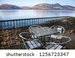 a view from the balcony at loch ... | Shutterstock . vector #1256723347