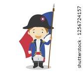 french revolution soldier... | Shutterstock .eps vector #1256724157