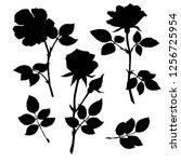 illustration of roses flowers ...   Shutterstock .eps vector #1256725954