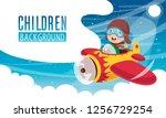 vector illustration of kid... | Shutterstock .eps vector #1256729254