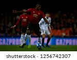 paul pogba of manchester united ... | Shutterstock . vector #1256742307