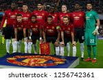 line up manchester during the... | Shutterstock . vector #1256742361