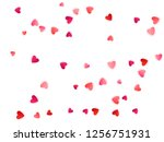 ruby red flying hearts bright... | Shutterstock .eps vector #1256751931