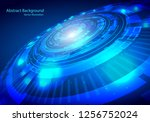 vector tech circle and... | Shutterstock .eps vector #1256752024