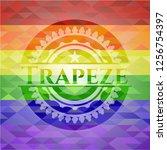 trapeze lgbt colors emblem  | Shutterstock .eps vector #1256754397