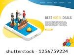 best hotel deals landing page...   Shutterstock .eps vector #1256759224