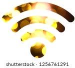 wifi signal symbol | Shutterstock . vector #1256761291