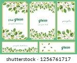 green background frame | Shutterstock .eps vector #1256761717