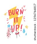 t shirt design with quotes and...   Shutterstock . vector #1256766817