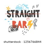 t shirt design with quotes and...   Shutterstock . vector #1256766844