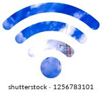 wifi signal symbol | Shutterstock . vector #1256783101