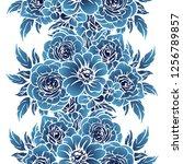 flower print. elegance seamless ... | Shutterstock . vector #1256789857