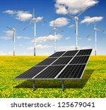 solar energy panels and wind... | Shutterstock . vector #125679041