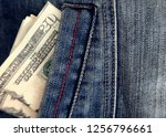 closeup of twenty dollars... | Shutterstock . vector #1256796661