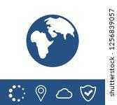 earth vector icon  | Shutterstock .eps vector #1256839057