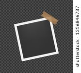 blank photo frame with shadow.... | Shutterstock .eps vector #1256846737